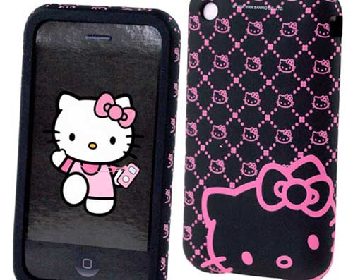 Funda protectora iPhone 3G-3GS Hello Kitty
