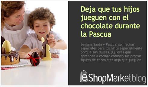 Escaparate destacado de la semana: diversión para los niños durante la Pascua utilizando el chocolate.