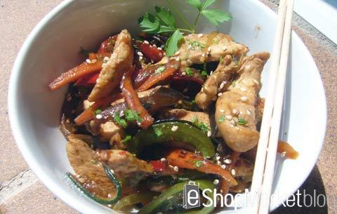 Menú de recetas: Wok de pollo con verduras