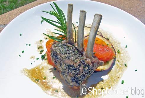 Carré de cordero a las finas hierbas, menú de recetas