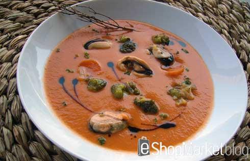 Gazpacho marinero, menú de recetas