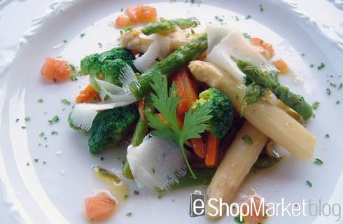 Panaché de verduras con queso curado, menú de recetas