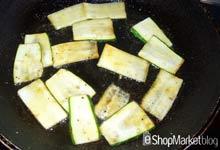Menú de recetas: salteamos las láminas de calabacín para las milhojas de atún