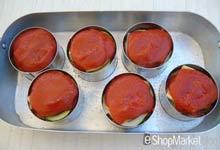 Menú de recetas: llenamos la fuente de horno o los moldes individuales con las capas de Musaka