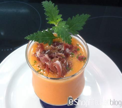 Sopa de tomate y melón, menú de recetas