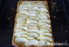 Menú de recetas: introducimos la torta de manzana dentro del horno