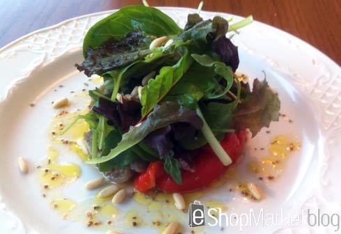 Ensalada templada con anchoas, menú de recetas