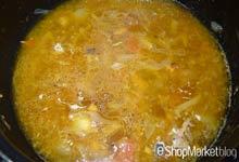 Menú de recetas: añadimos agua a la cebolla y el tomate