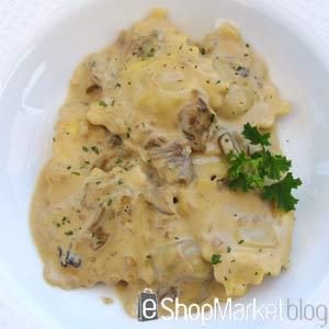 Raviolis con setas, menú de recetas