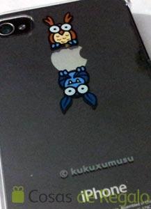 Carcasas transparentes para iPhone 4 y 4S de Kukuxumusu