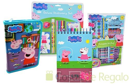 Pinta y colorea con Peppa Pig, material escolar para niños