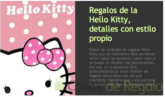 Regalos Hello Kitty originales