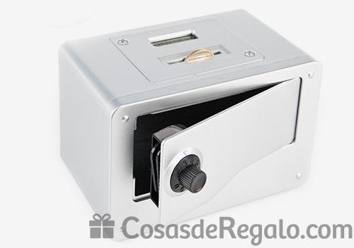 Hucha original con forma de caja fuerte y contador de monedas