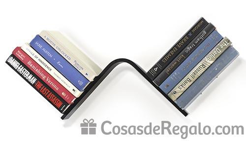 Estantería invisible para libros en forma de L