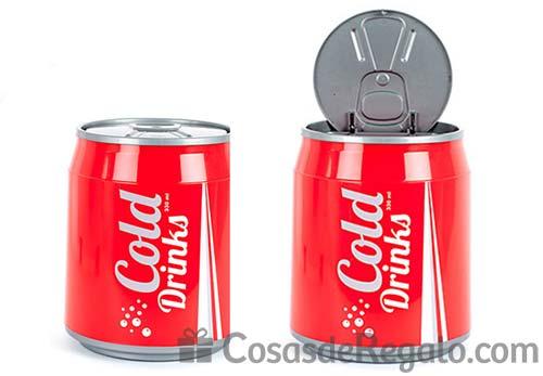 Papelera Cold Drinks con diseño en lata de refresco