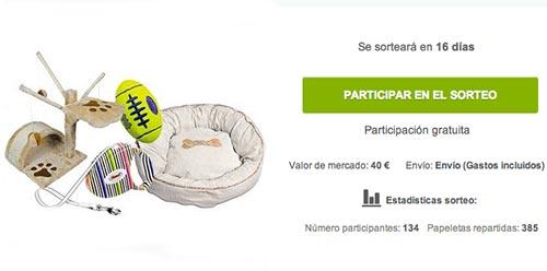 Sorteo de regalos: 40 euros gratis en accesorios para perros y gatos
