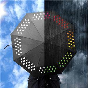Paraguas que cambia de color con la lluvia