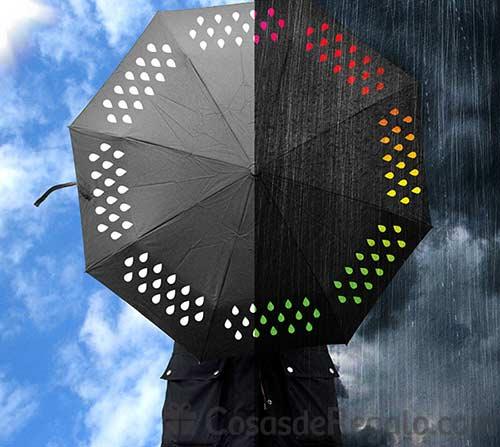 Paraguas multicolor y paraguas reflectante: divertidos y muy originales