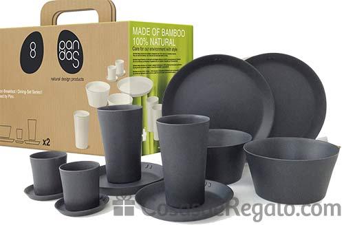 8Pandas, platos y vasos ecológicos fabricados en bambú