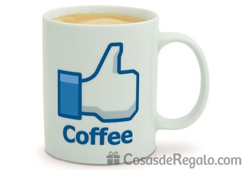 Taza de Facebook en color blanco: un Me Gusta para el café