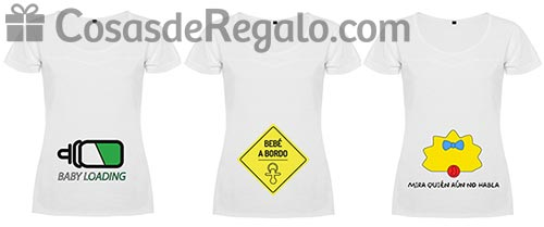 Camisetas para embarazadas: elásticas y muy divertidas