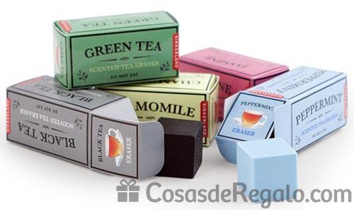 Gomas de borrar con olor: cinco diferentes fragancias de infusiones