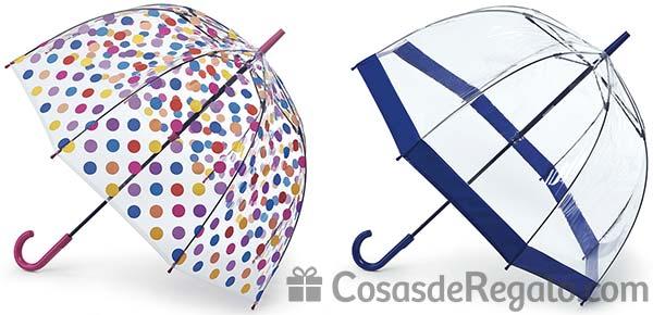 Paraguas transparentes, cuatro novedades para adultos y para niños