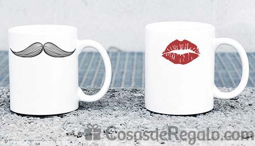 Tazas originales con forma de bigote y labios ideal for Tazas de cafe originales