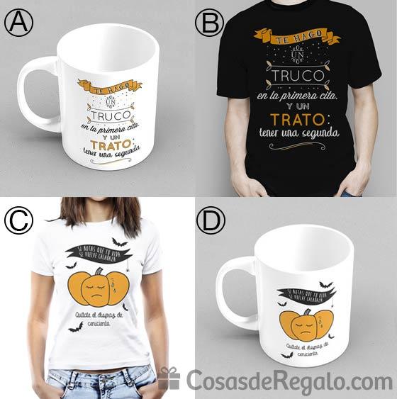 Camisetas y tazas especiales para Halloween. ¿Truco o trato?