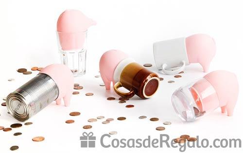 Ahorra dinero de forma original: hucha cerdito que combina con otros objetos