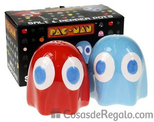 Salero y pimentero de los fantasmas de Pac-Man
