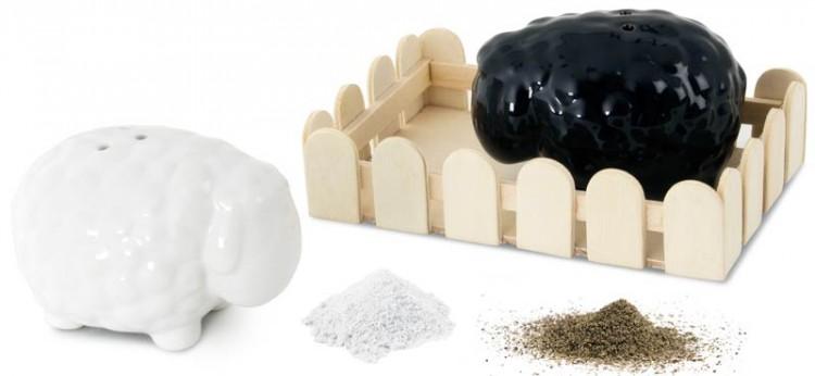 El set de salero y pimentero más original: con forma de ovejas