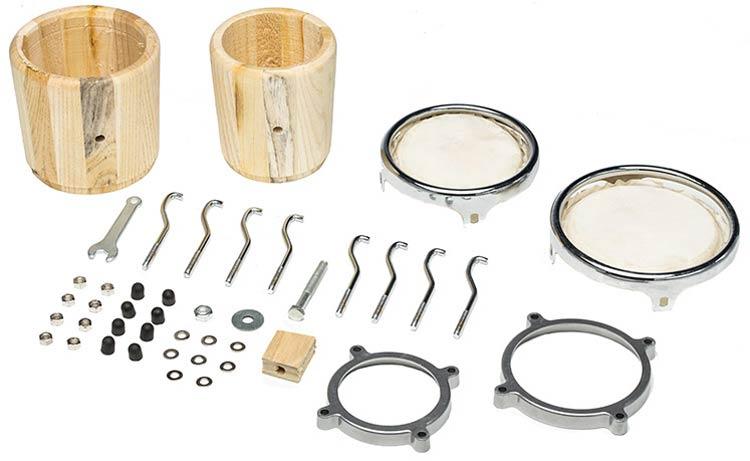 Da la nota en Navidad: ukelele y bongos para montar
