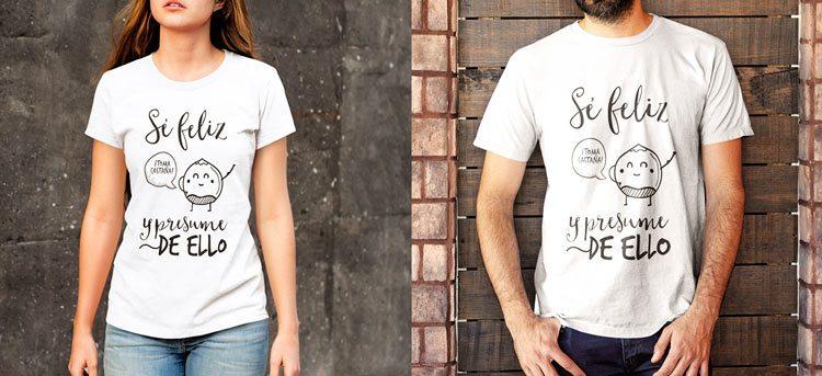 Si eres feliz presume de ello, nuevas camisetas personalizadas