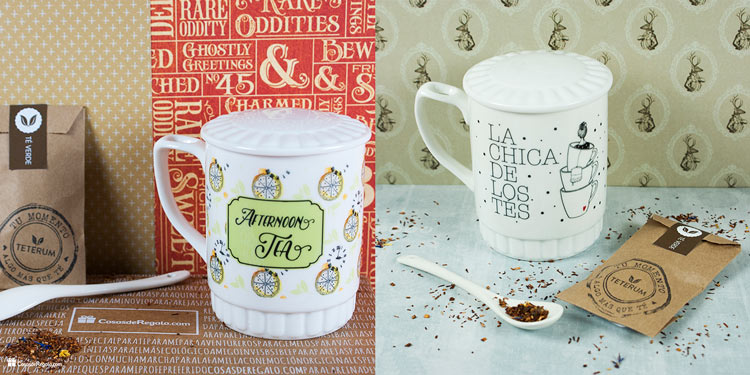 Nuevos kits de taza con cucharilla tapa y muestra de t for Tazas de te con tapa